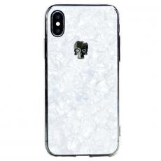 Чехол Bling My Thing Tresure, Hematite Skull для iPhone XS/X, с кристаллами Swarovski, белый, фото 1