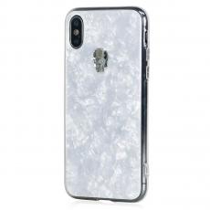 Чехол-накладка Bling My Thing Tresure Silver Skull для iPhone X/Xs, с кристаллами Swarovski, белый, фото 1