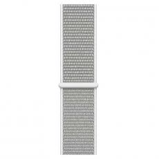 """Apple Watch Series 4, 44 мм, корпус из алюминия серебристого цвета, спортивный браслет цвета """"белая ракушка"""", фото 3"""