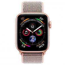 """Apple Watch Series 4, 40 мм, корпус из алюминия золотого цвета, спортивный браслет цвета """"розовый песок"""", фото 2"""