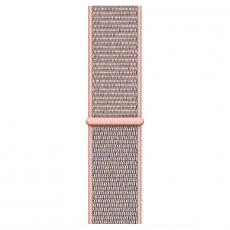 """Apple Watch Series 4, 44 мм, корпус из алюминия золотого цвета, спортивный браслет цвета """"розовый песок"""", фото 3"""