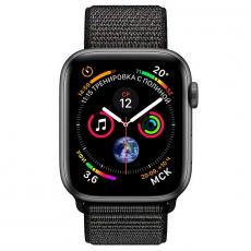 """Apple Watch Series 4, 44 мм, корпус из алюминия цвета """"серый космос"""", спортивный браслет черного цвета, фото 2"""