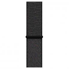 """Apple Watch Series 4, 44 мм, корпус из алюминия цвета """"серый космос"""", спортивный браслет черного цвета, фото 3"""