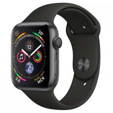 """Apple Watch Series 4, 40 мм, корпус из алюминия цвета """"серый космос"""", спортивный ремешок черного цвета, фото 1"""