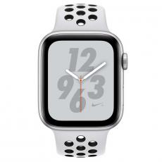 "Apple Watch Nike+, 40 мм, Series 4, корпус из алюминия серебристого цвета, спортивный ремешок Nike цвета ""чистая платина/чёрный"", фото 2"