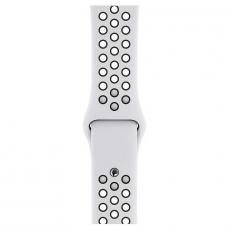 "Apple Watch Nike+, 40 мм, Series 4, корпус из алюминия серебристого цвета, спортивный ремешок Nike цвета ""чистая платина/чёрный"", фото 3"