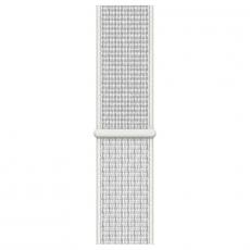 """Apple Watch Nike+, 44 мм, Series 4, корпус из алюминия серебристого цвета, спортивный браслет Nike цвета """"снежная вершина"""", фото 3"""