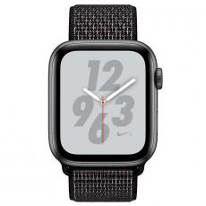 """Apple Watch Nike+, 40 мм, Series 4, корпус из алюминия цвета """"серый космос"""", спортивный браслет Nike черного цвета, фото 2"""