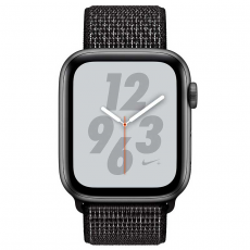 """Apple Watch Nike+, 44 мм, Series 4, корпус из алюминия цвета """"серый космос"""", спортивный браслет Nike черного цвета, фото 2"""