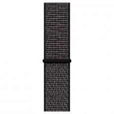 """Apple Watch Nike+, 44 мм, Series 4, корпус из алюминия цвета """"серый космос"""", спортивный браслет Nike черного цвета, фото 3"""
