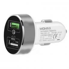 Автомобильное зарядное устройство Momax Car Charger 3.0 UC9, белый, фото 1