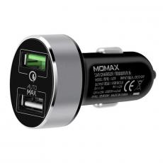 Автомобильное зарядное устройство Momax Car Charger 3.0 UC9, чёрная, фото 1