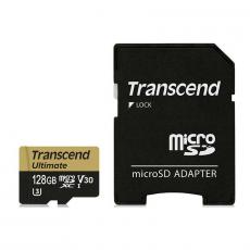Карта памяти с адаптером Transcend Ultimate, Micro-SDHC, 128 ГБ, класс 30, фото 1