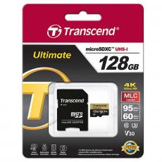Карта памяти с адаптером Transcend Ultimate, Micro-SDHC, 128 ГБ, класс 30, фото 2