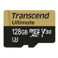 Карта памяти с адаптером Transcend Ultimate, Micro-SDHC, 128 ГБ, класс 30, фото 3
