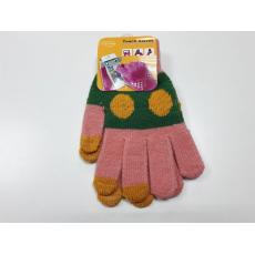 Перчатки для сенсорных экранов, вязаные, цветные, фото 1