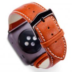 Ремешок кожаный Dbramante1928 Copenhagen для Apple Watch 42mm, тёмно-коричневый, фото 1