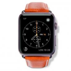 Ремешок кожаный Dbramante1928 Copenhagen для Apple Watch 42mm, тёмно-коричневый, фото 2