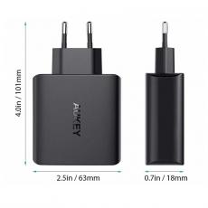 Сетевое зарядное устройство Aukey, 4 USB-A, 40W, 8А, чёрный, фото 2