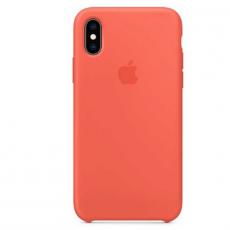 Силиконовый чехол Apple для iPhone XS, спелый нектарин, фото 1