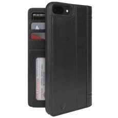 Чехол-книжка кожаный Twelve South Journal для iPhone 8/7/6s/6 Plus, чёрный, фото 1