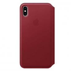 Чехол-книжка Apple кожаный для iPhone XS Max, красный, фото 1