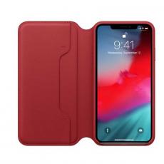 Чехол-книжка Apple кожаный для iPhone XS Max, красный, фото 2