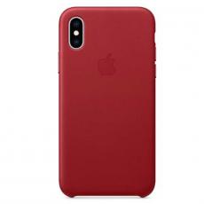 Чехол-накладка Apple для iPhone Xs, кожаный, красный, фото 1