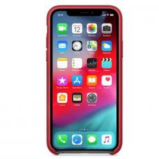 Чехол-накладка Apple для iPhone Xs, кожаный, красный, фото 2