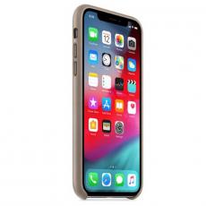 Чехол-накладка Apple для iPhone Xs, кожаный, платиново-серый, фото 2