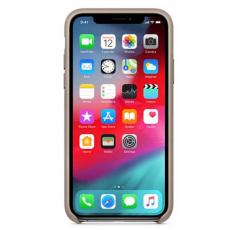 Чехол-накладка Apple для iPhone Xs, кожаный, платиново-серый, фото 3