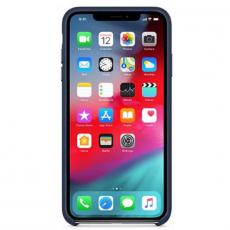 Чехол-накладка Apple для iPhone Xs, кожаный, тёмно-синий, фото 2