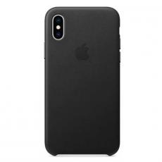 Чехол-накладка Apple для iPhone Xs, кожаный, чёрный, фото 1