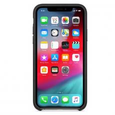 Чехол-накладка Apple для iPhone Xs, кожаный, чёрный, фото 3