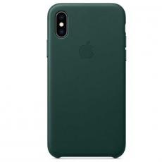 Чехол Apple кожаный для iPhone XS/X, зелёный лес, фото 1
