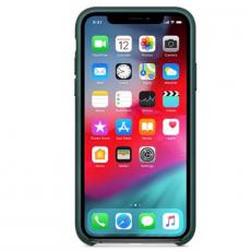 Чехол Apple кожаный для iPhone XS/X, зелёный лес, фото 2