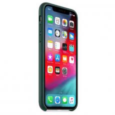 Чехол Apple кожаный для iPhone XS/X, зелёный лес, фото 3