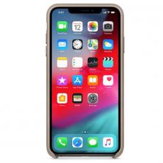 Чехол Apple кожаный для iPhone XS Max, платиново-серый, фото 2
