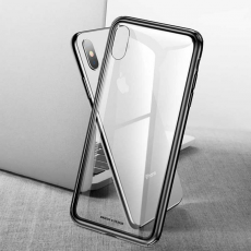 Чехол Baseus See-through Glass для iPhone X/XS, чёрный, фото 2