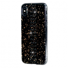 Чехол Bling My Thing для iPhone XS/X, с кристаллами Swarovski, Stripe, Jet, чёрный, фото 1