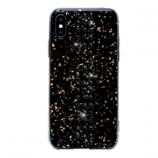 Чехол Bling My Thing для iPhone XS/X, с кристаллами Swarovski, Stripe, Jet, чёрный, фото 2