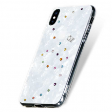 Чехол-накладка Bling My Thing Papillon Cotton Candy для iPhone X/Xs, с кристаллами Swarovski, белый, фото 3