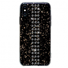 Чехол Bling My Thing для iPhone XS/X, с кристаллами Swarovski, Stripe, Chrom, чёрный, фото 1