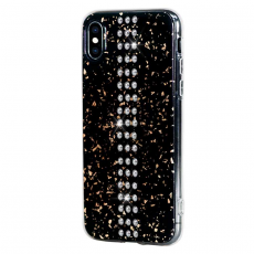 Чехол Bling My Thing для iPhone XS/X, с кристаллами Swarovski, Stripe, Chrom, чёрный, фото 2