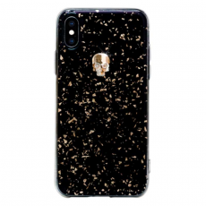 Чехол-накладка Bling My Thing Tresure 3D Gold Skull для iPhone X/Xs, с кристаллами Swarovski, чёрный, фото 1