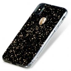 Чехол-накладка Bling My Thing Tresure 3D Gold Skull для iPhone X/Xs, с кристаллами Swarovski, чёрный, фото 3