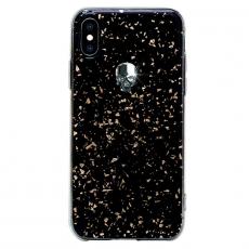 Чехол Bling My Thing для iPhone XS/X, с кристаллами Swarovski, Tresure 3D, Silver Skull, чёрный, фото 1