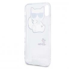 Чехол-накладка Lagerfeld Choupette для iPhone X/Xs, силикон, прозрачный, фото 3