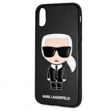 Чехол-накладка Lagerfeld Choupette для iPhone X/Xs, поликарбонат / кожа, чёрный, фото 1