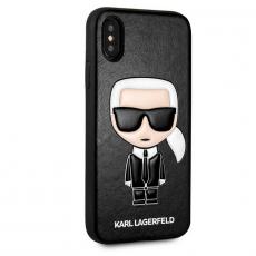 Чехол-накладка Lagerfeld Choupette для iPhone X/Xs, поликарбонат / кожа, чёрный, фото 2